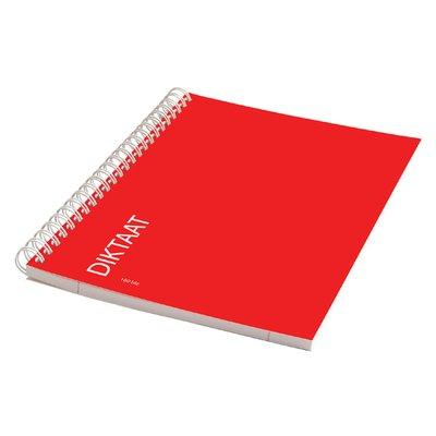 Schrift dictaat A5 160blz gelinieerd met zijspiraal rood