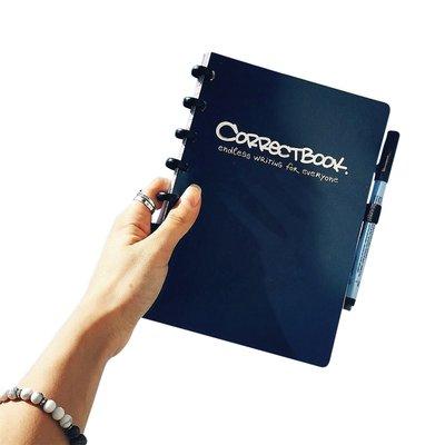 Notitieboek Correctbook uitwisbaar en herbruikbaar A5 lijn 40blz midnight blue