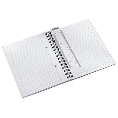 Notitieboek Leitz WOW A5 lijn spiraal PP wit