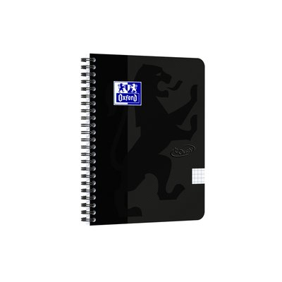 Spiraalblok Oxford Touch A5 ruit 5mm 70vel zwart