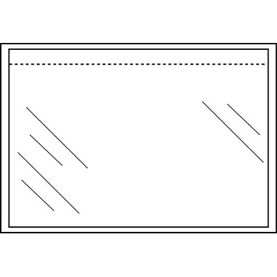 Paklijstenvelop Quantore zelfklevend blanco 225x165mm 1000st