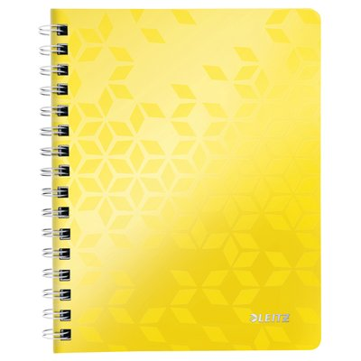 Notitieboek Leitz WOW A5 lijn spiraal PP geel