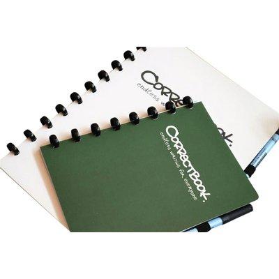 Notitieboek Correctbook uitwisbaar en herbruikbaar A5 lijn 40blz forest green