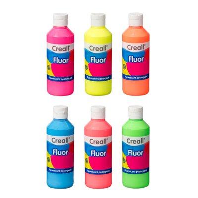 Plakkaatverf Creall fluor 04 rood 250 ml